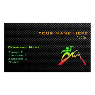 Sleek Mountain Climbing Business Card Template