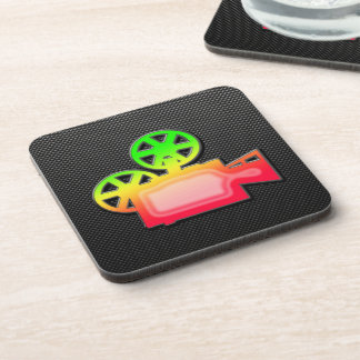 Sleek Movie Camera Coaster