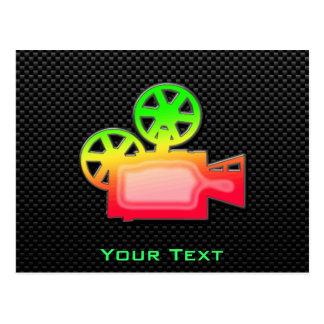 Sleek Movie Camera Post Card