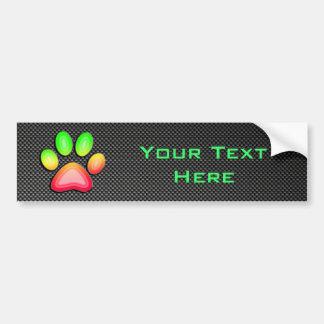 Sleek Paw Print Bumper Sticker