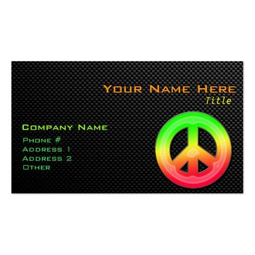 Sleek Peace Sign Business Card