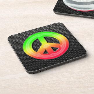 Sleek Peace Sign Coaster