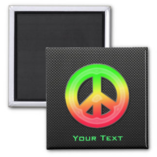 Sleek Peace Sign Magnets
