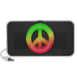 Sleek Peace Sign iPhone Speaker