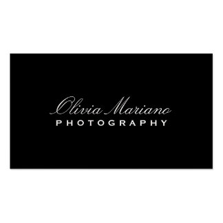 SLEEK PHOTOGRAPHER Double-Sided STANDARD BUSINESS CARDS (Pack OF 100)