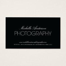 SLEEK PHOTOGRAPHER | PHOTOGRAPHY BUSINESS CARD at Zazzle