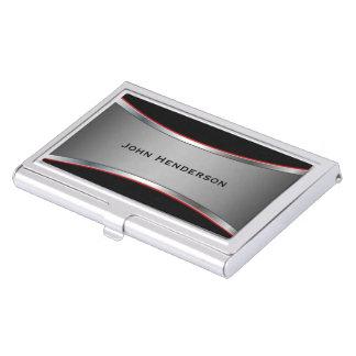 Sleek Polished Chrome Look Business Card Holders
