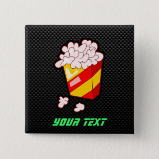 Sleek Popcorn Pinback Button