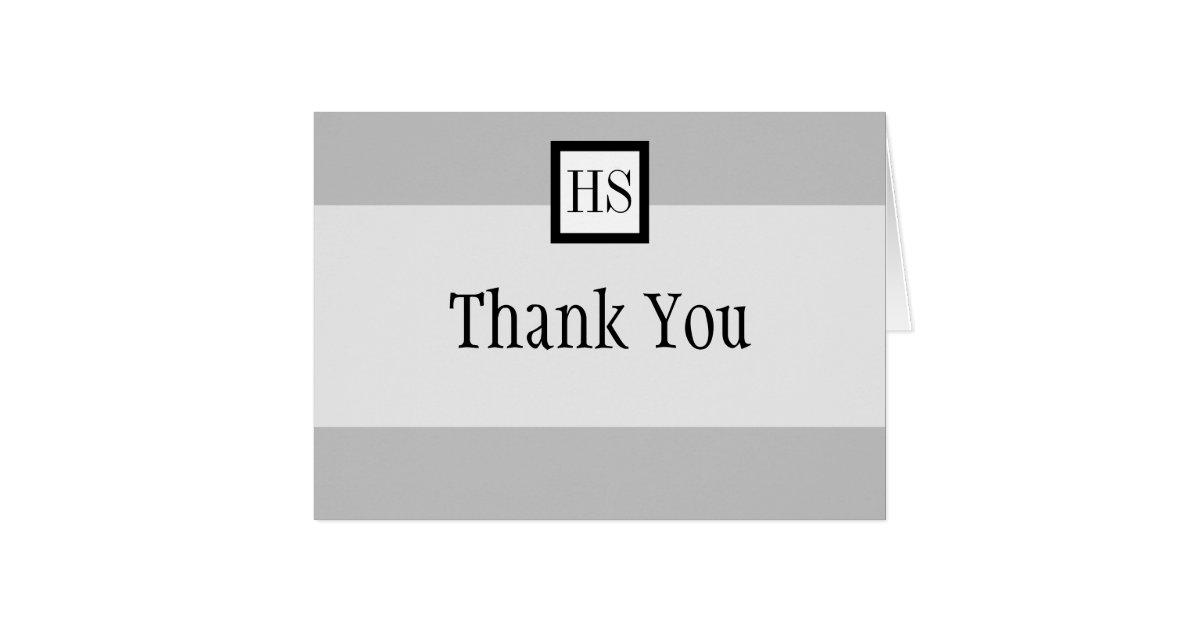 Sleek Professional Thank You Note Card