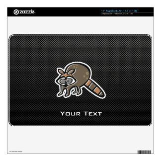 Sleek Raccoon MacBook Skins