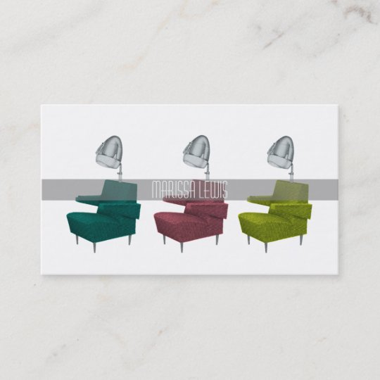 Groovy Sleek Retro Vintage Salon Dryer Chair Stylist Card Ocoug Best Dining Table And Chair Ideas Images Ocougorg