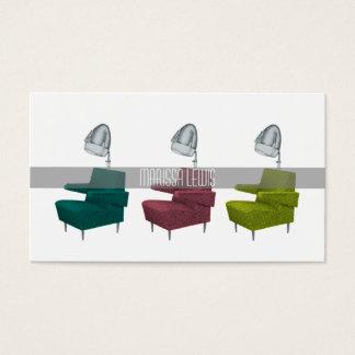Sleek Retro Vintage Salon Dryer Chair Stylist Card