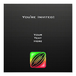 Sleek Rugby 5.25x5.25 Square Paper Invitation Card