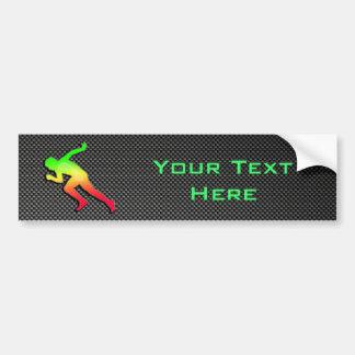 Sleek Running Car Bumper Sticker