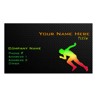 Sleek Running Double-Sided Standard Business Cards (Pack Of 100)