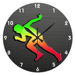 Sleek Running Wall Clock