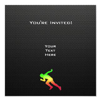 Sleek Running Invitation