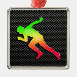 Sleek Running Metal Ornament