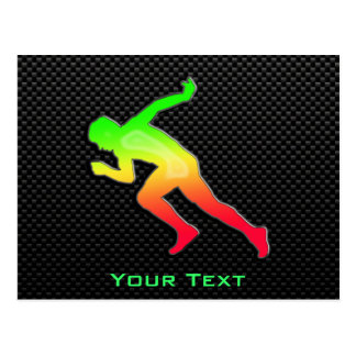 Sleek Running Postcard