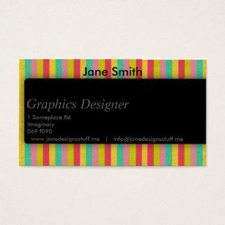 Sleek Shadow for Designers Business Card