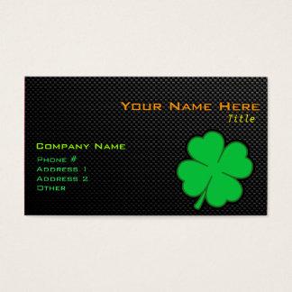 Sleek Shamrock Business Card
