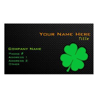 Sleek Shamrock Double-Sided Standard Business Cards (Pack Of 100)