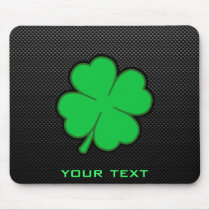 Sleek Shamrock Mouse Pad