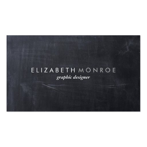 Sleek Simple Modern Chalkboard Business Cards