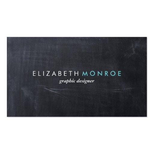 Sleek Simple Modern Chalkboard Business Card Template