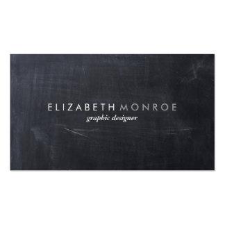 Sleek Simple Modern Chalkboard Double-Sided Standard Business Cards (Pack Of 100)