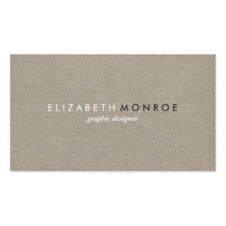 Sleek Simple Modern Rustic Burlap Business Card
