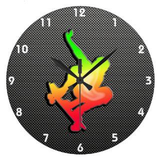 Sleek Skateboarding Wall Clock