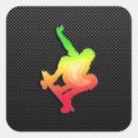 Sleek Skateboarding Sticker