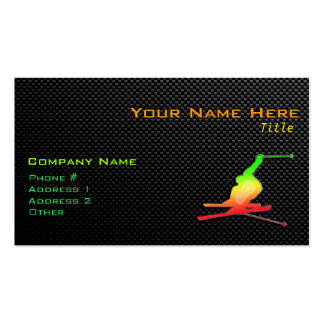 Sleek Snow Skiing Double-Sided Standard Business Cards (Pack Of 100)