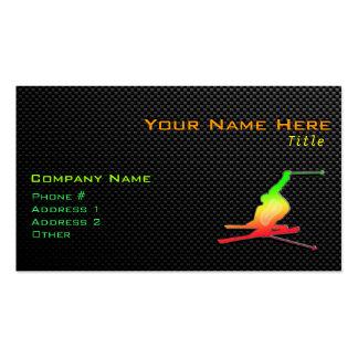 Sleek Snow Skiing Business Card Template
