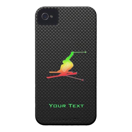 Sleek Snow Skiing iPhone 4 Case-Mate Case