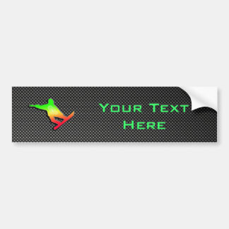 Sleek Snowboarding Bumper Sticker