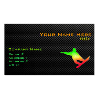 Sleek Snowboarding Business Card