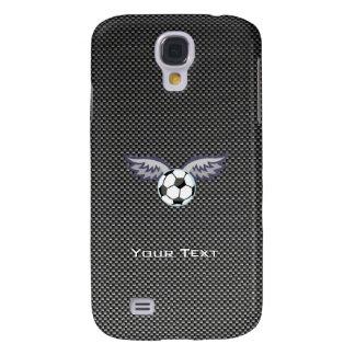 Sleek Soccer Ball Wings Samsung Galaxy S4 Cases