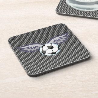 Sleek Soccer Ball Wings Coaster