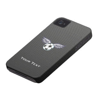 Sleek Soccer Ball Wings iPhone 4 Case-Mate Cases