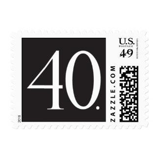 Sleek Sophistication Postage Stamp