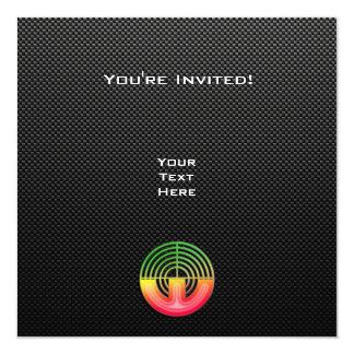 Sleek Sport Shooting 5.25x5.25 Square Paper Invitation Card