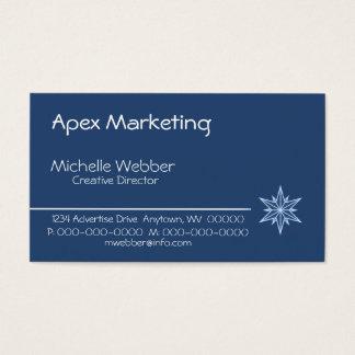 Sleek Starburst Business Card, Blue Business Card