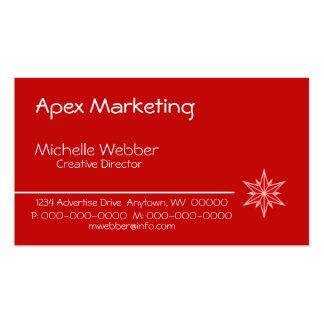 Sleek Starburst Business Card, Red