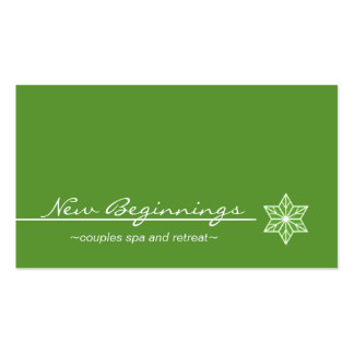 Sleek Starlight Business Card, Kelly Green