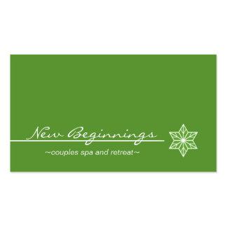 Sleek Starlight Business Card, Kelly Green Business Card