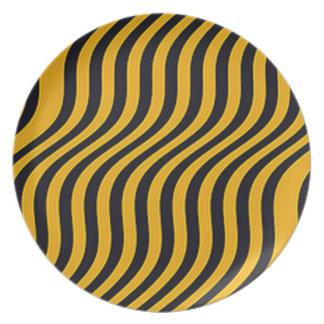 Sleek Steeler Stripes Melamine Plate