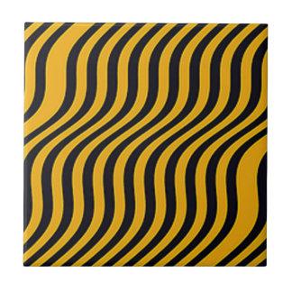 Sleek Steeler Stripes Tile