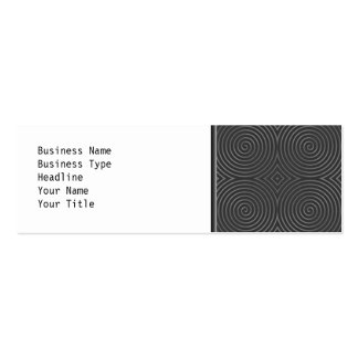 Sleek, stylish, black and white design. Double-Sided mini business cards (Pack of 20)